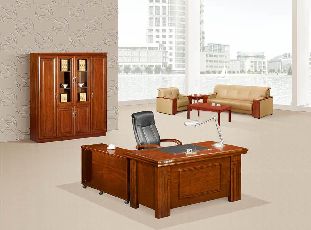 明浩办公家具 传统实木班台 经理主管办公台K-1603产品大图