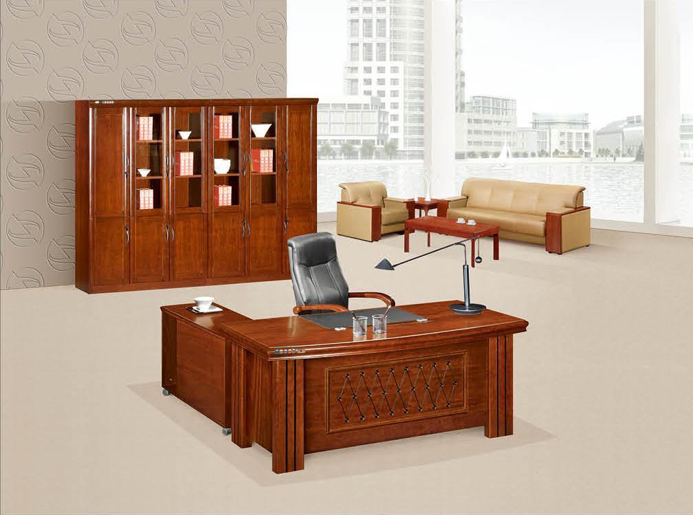 明浩办公家具高档实木班台经理主管办公台 K-1622产品大图