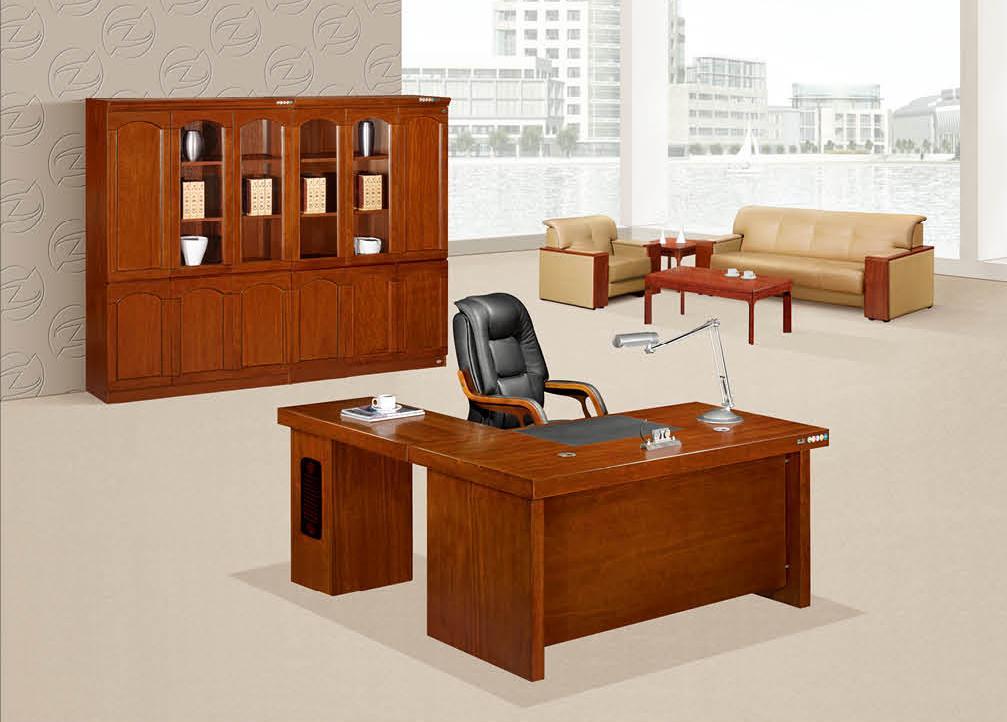 明浩办公家具 实木办公台K-1656产品大图