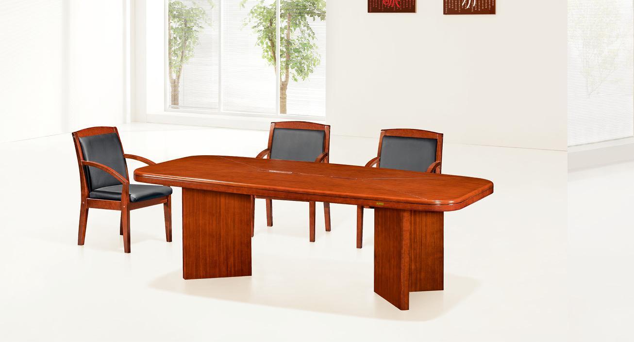 泰柚木会议接待实木组合家具产品大图