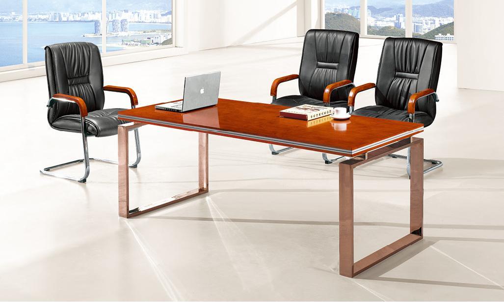 泰柚木办公会议接待三合一组合家具产品大图
