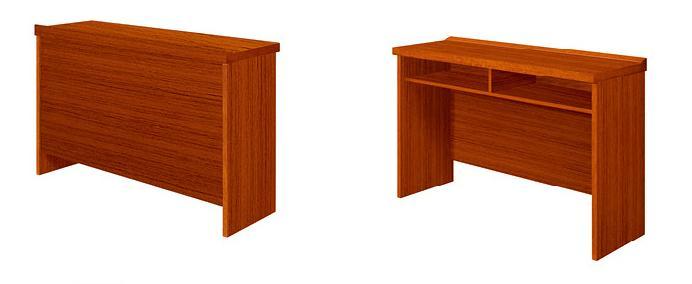 1.5米长泰柚木实木双柜会议台产品大图