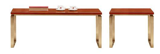 1米长泰柚木办公桌茶几产品大图