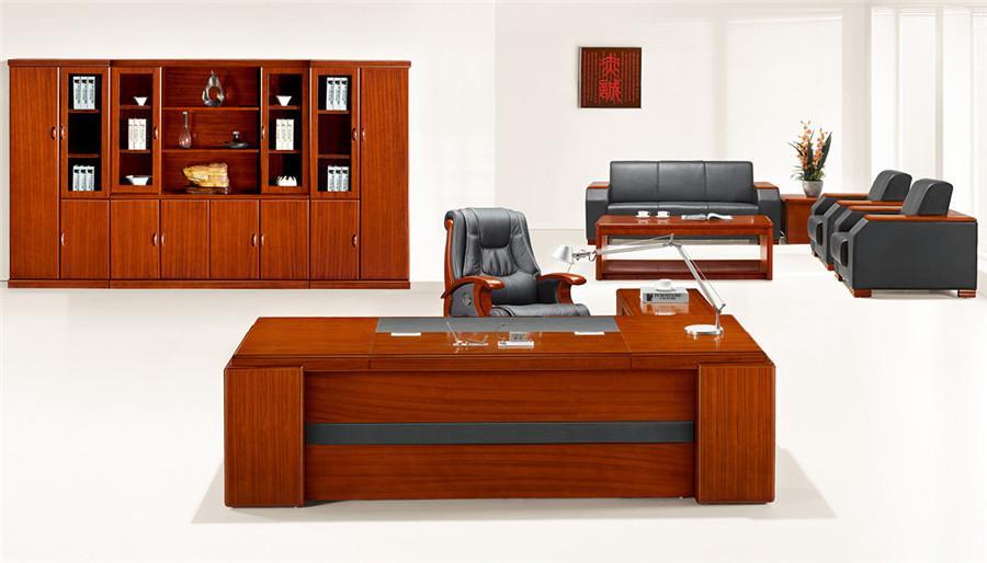 2米长泰柚木单人实木办公桌产品大图