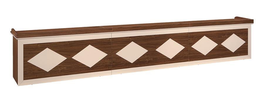 棕色钢木会议接待专用办公桌产品大图
