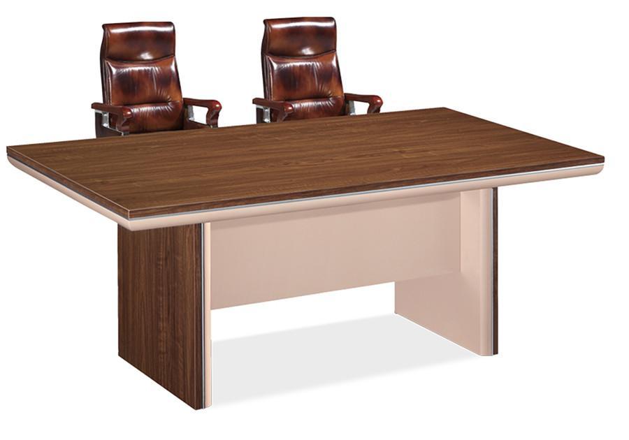 1米长棕色书记台办公桌产品大图