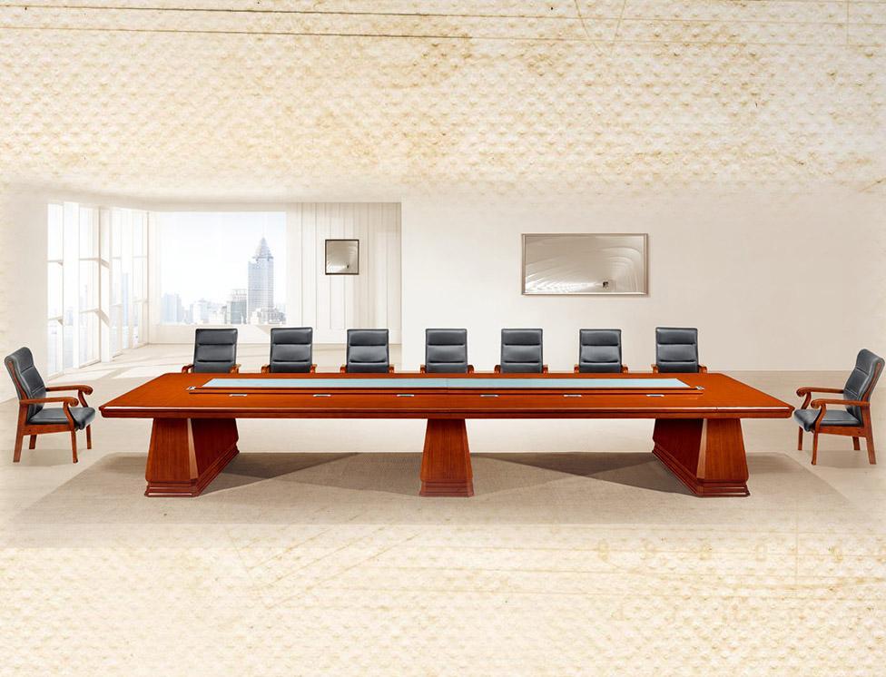 胡桃木高档实木办公会议桌产品大图