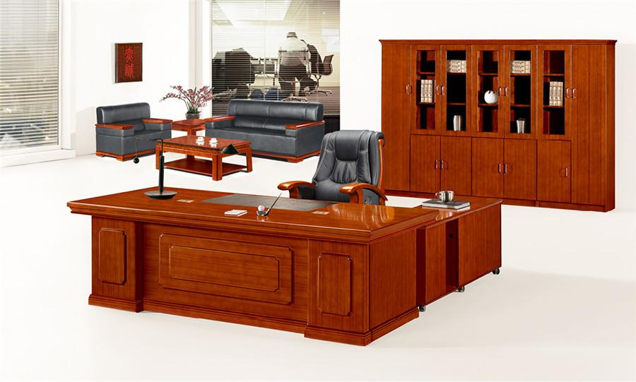 1.3米长泰柚木实木中式办公桌装修效果图.jpg