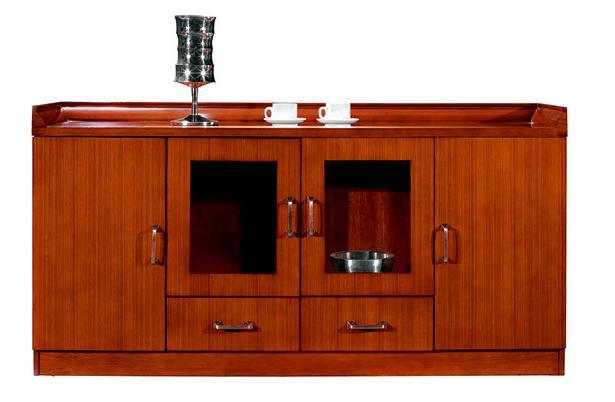 2米长泰柚木接待用茶水柜实拍图.jpg