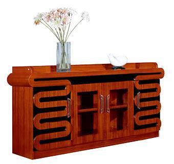 1.8米长泰柚木实木会议室用茶水柜实拍图.jpg