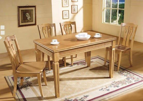 原木色白橡木实木家用餐桌家具图.jpg