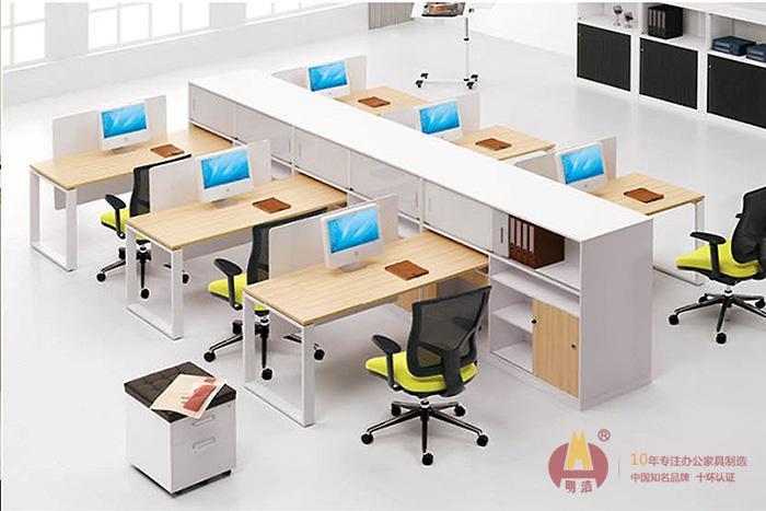 黄白相间普通员工办公桌板式办公家具.jpg