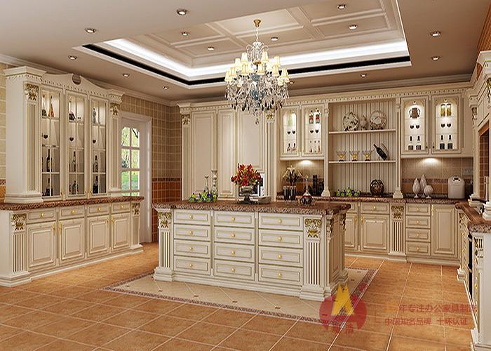欧式家具定制厨房装饰效果图.jpg