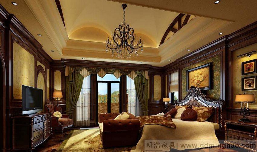 新中式风格原木室内家具定制